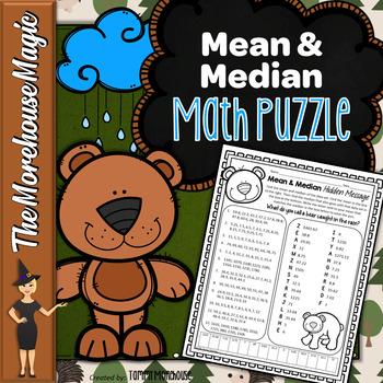 Mean & Median Math Puzzle