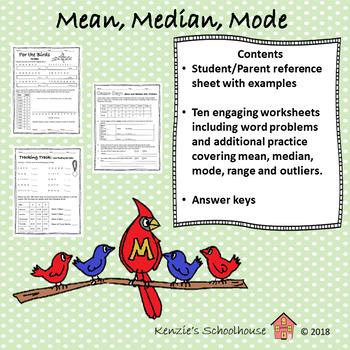 Mean, Median, Mode +