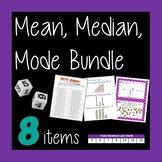 Mean Median Mode - 8 Activity Bundle!