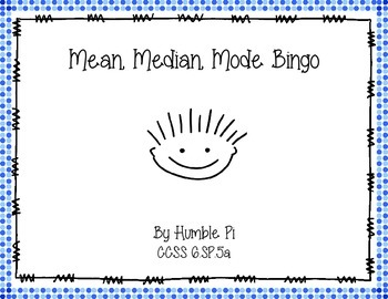 Mean, Median, Mode Bingo- 6.SP.5a