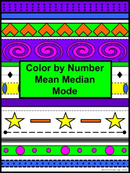 Mean Median Mode Color by Number