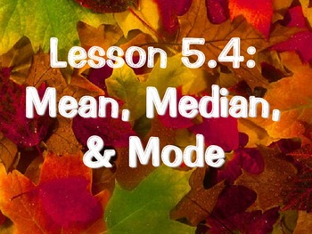 Mean, Median, Mode Fall Themed Power Point