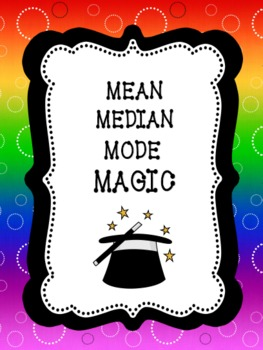 Mean Median Mode Magic: BUNDLE