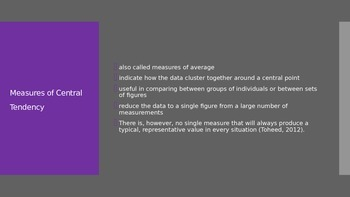 Mean, Median, Mode (Measures of Central Tendency)
