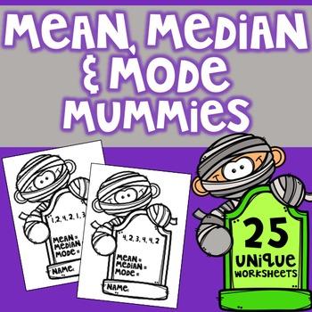 Mean Median & Mode Mummies