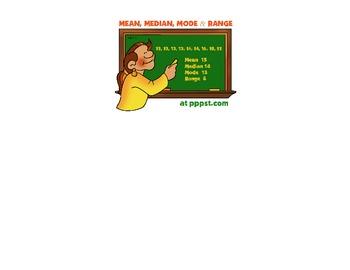 Mean, Median, Mode Poem Poster