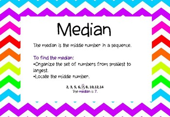 Mean, Median, Mode Posters