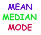 Mean, Median, & Mode Power Point