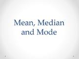 Mean, Median, Mode Presentation