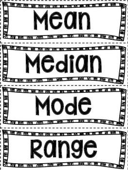 Mean, Median, Mode & Range