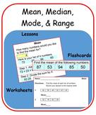 Mean, Median, Mode, & Range