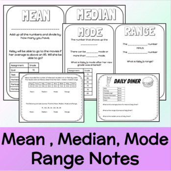 Mean Median Mode Range