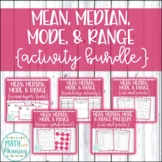 Mean, Median, Mode, & Range Activity Bundle