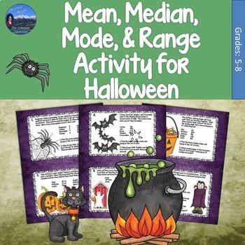 Mean, Median, Mode, & Range Activity for Halloween