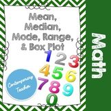 Mean, Median, Mode, Range, & Box Plot Foldable