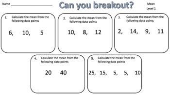 Mean, Median, Mode & Range Breakout Bundle – Perfect for Google Classroom!