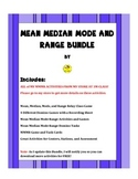 Mean Median Mode Range Bundle
