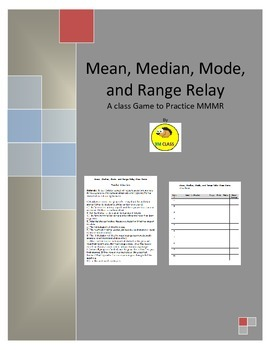 Mean Median Mode Range Class Relay Game