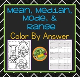 Mean Median Mode Range Color by Answer