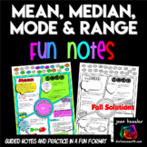 Measures of Central Tendency FUN Notes Doodle Pages also for Distance Learning
