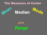 Mean, Median, Mode, Range Smartboard Lesson - Common Core Aligned