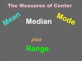 Mean, Median, Mode, Range Smartboard Lesson - Common Core Aligned
