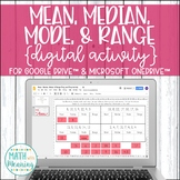 Mean, Median, Mode, & Range DIGITAL Activity for Google Di