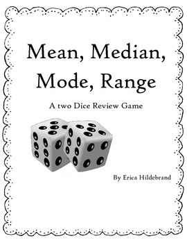 Mean, Median, Mode, Range Dice Review Game