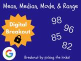 Mean, Median, Mode, & Range - Digital Breakout! (Escape Room, Brain Break)