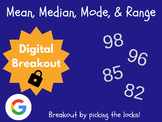 Mean, Median, Mode, & Range - Digital Breakout! (Escape Room, Brain Break)