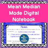 Mean Median Mode Range Digital Notebook Distance Learning