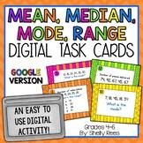 Mean, Median, Mode, Range - Digital Task Cards Google Version