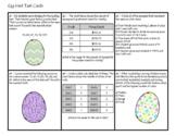 Mean, Median, Mode, Range Egg Hunt Task Cards - with QR Co