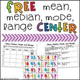 Mean, Median, Mode, Range FREEBIE