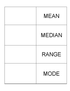 Mean, Median, Mode, Range Foldable Notes