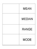 Mean, Median, Mode, Range Foldable Notes