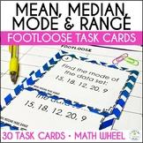 Mean, Median, Mode, Range Task Cards - Footloose Math Game