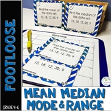 Mean, Median, Mode, Range Task Cards - Footloose Math Game