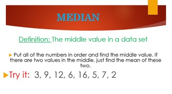 Mean, Median, Mode & Range Foursquare and PPT