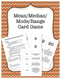Mean, Median, Mode, Range Game