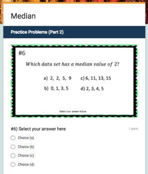 Mean, Median, Mode & Range Google Form Bundle – Perfect for Google Classroom!