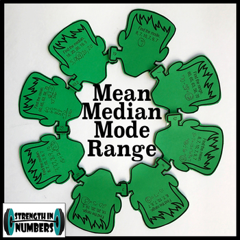 Mean Median Mode Range Halloween Frankenstein Monster Wreath