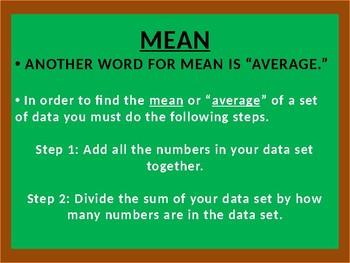 Mean-Median-Mode-Range Instructional Poweroint