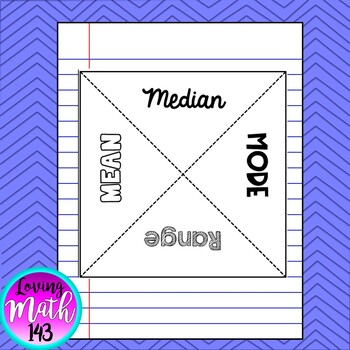 Mean, Median, Mode & Range Interactive Math Notes
