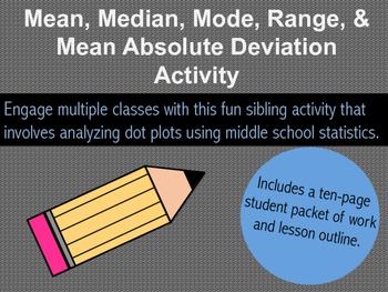 Mean, Median, Mode, Range, & M.A.D. Sibling Activity