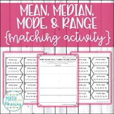 Mean, Median, Mode, & Range Matching Activity - CCSS 6.SP.B.5.C