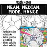 Mean, Median, Mode, Range Math Wheel with Editable Wheel