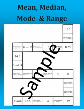 Mean, Median, Mode & Range – Math puzzle