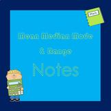 Mean Median Mode Range Notes