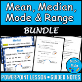 Mean, Median, Mode & Range PPT and Guided Notes BUNDLE